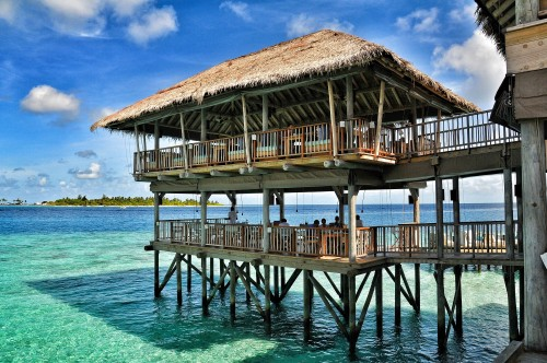 Longitude Is The Multi Cuisine Two Story Overwater Dining E At Laamu With Stunning Ocean And Marine Life Views This Spot Offers A Wonderful Buffet